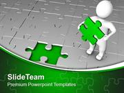 Found The Solution With Jigsaw Puzzle PowerPoint Templates PPT Themes