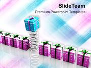 Gift Coming Out Of Spring PowerPoint Templates PPT Themes And Graphics