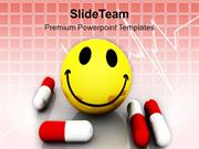 Healthy And Happy Pills Medical PowerPoint Templates PPT Themes And Gr