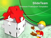 Illustration Of Creative Puzzle House PowerPoint Templates PPT Themes
