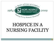 Hospice in a Nursing Facility