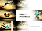 Soccer Collage PowerPoint Template by PoweredTemplate.com