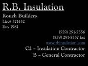 R.B. Insulation - San Joaquin Valley - Lic. #371432