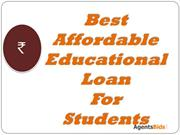 best affordable education loan for student