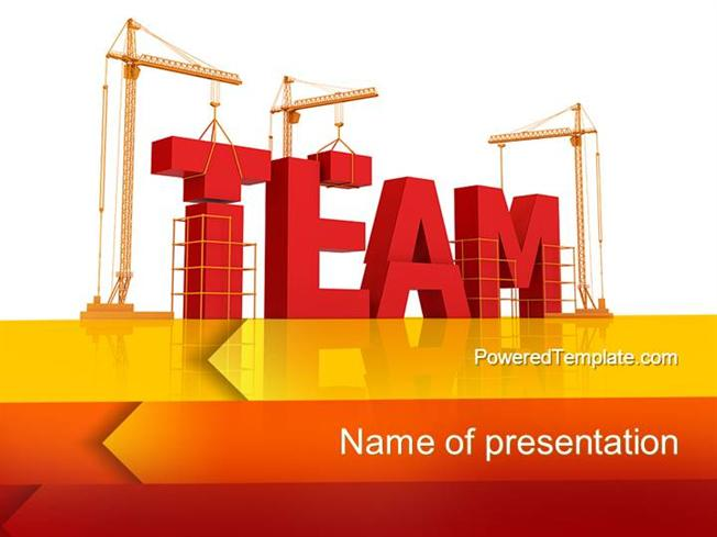 Team Building Under Construction Powerpoint Template Authorstream
