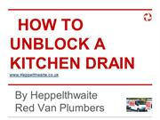 How To Unblock A Kitchen Drain - By Heppelthwaite