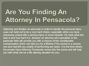 Are You Finding An Attorney In Pensacola