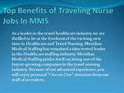 Top Benefits of Traveling Nurse Jobs In MMS
