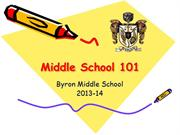 Middle School 101 2013-14