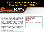 KP's Carpet & Upholstery Cleaning Sydney Wide