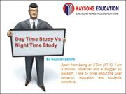 Day wise Pattern studies for JEE Main