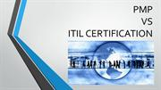 PMP vs ITIL Certification
