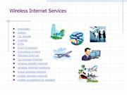 Wireless Mobile Internet Services