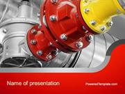 Industrial Pipe Junction PowerPoint Template by PoweredTemplate.com