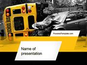 School Bus Accident PowerPoint Template by PoweredTemplate.com