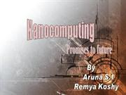 Application of Nanocomputers