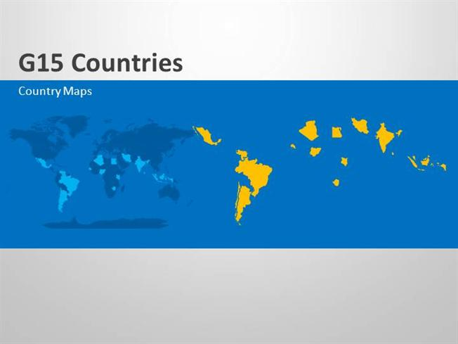 group 15 countries editable ppt map slides authorstream
