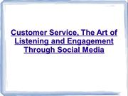 The Art of Listening and Engagement Through Social Media