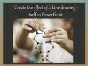 Create the effect of a line drawing itself in PowerPoint