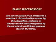 FLAME SPECTROSCOPY2