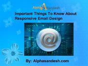 Important Things To Know About Responsive Email Design