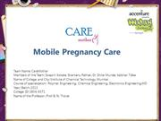 Mobile Pregnancy Care