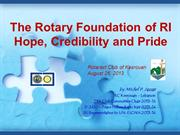 The Rotary International and its Foundation_2013