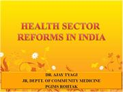 Health Reforms In India