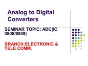 ANALOG TO DIGITAL CONVERTER IC 0808/0809