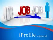 iProfile to Apply a Job