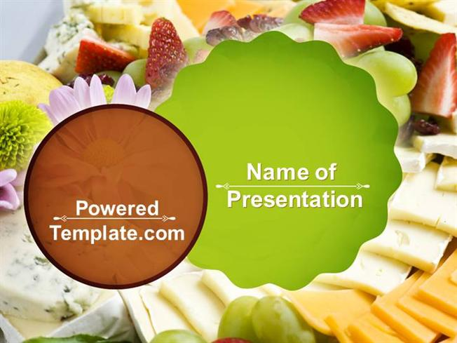 Baby Shower Food Powerpoint Template By PoweredtemplateCom