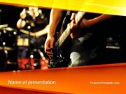 Live Band PowerPoint Template by PoweredTemplate.com