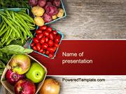 Fruit and Veg PowerPoint Template by PoweredTemplate.com