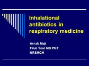inhalational antibiotics