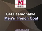 Get Fashionable Men's Trench Coat