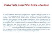 Effective Tips to Consider When Renting an Apartment