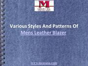 Various Styles And Patterns Of Mens Leather Blazer