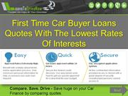 First Time Auto Loan Guaranteed Approval Online