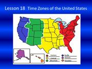 Lesson 18 Time Zones of the United States Slide Show