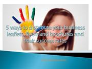 5 killer ways to distribute your business leaflets
