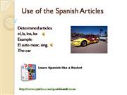 Use of Articles in Spanish