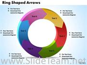 6 Staged Ring Shaped Arrow Diagram