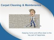 Important Tips on Carpet Cleaning & Maintenance