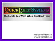 QUICKLABEL SYATEM