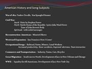 American History and Song Subjects