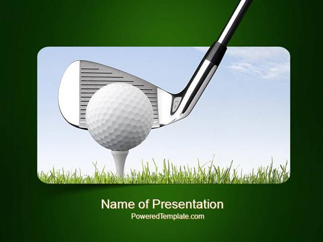 Golf tournament powerpoint template authorstream toneelgroepblik Choice Image