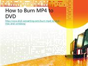 Best MP4 to DVD Burner, Convert MP4 to DVD Easily