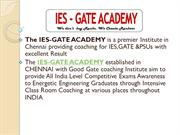 GATE IES Coaching Classes centers in Chennai - IES GATE Academy