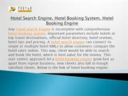 Hotel Search Engine, Hotel Booking System, Hotel Booking Engine