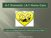 A-1 Domestic | A-1 Home Care: Compassionate In Home Care Services
